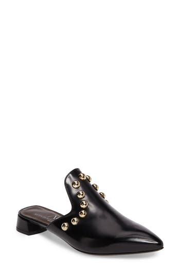 Agl Studded Loafer Mule - Black