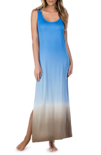 La Blanca Convertible Cover-Up Maxi Dress, Blue