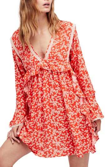 Free People Like You Best Minidress, Red
