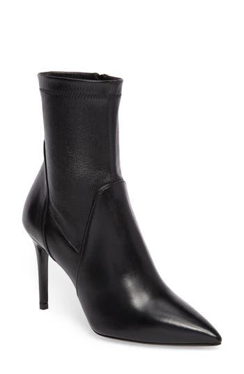 Charles David Linden Mid-Calf Pointy-Toe Boot Black