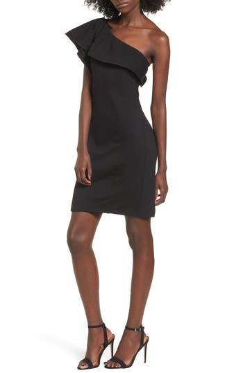 Leith One Shoulder Ruffle Dress