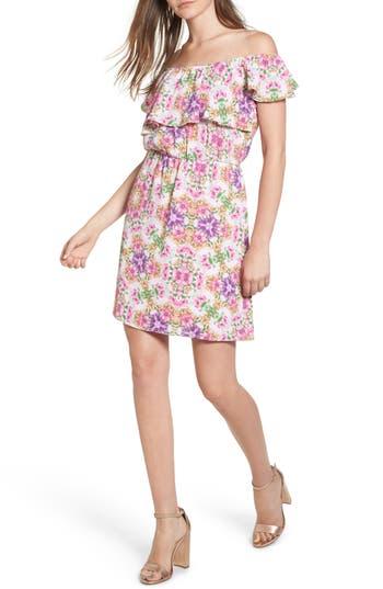 Everly Floral Off The Shoulder Dress, Pink