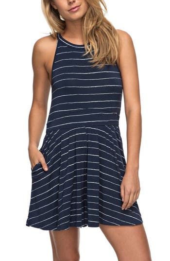Roxy Just Start Skater Dress, Blue