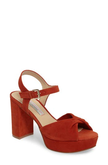 Kristin Cavallari Ryne Twist Toe Platform Sandal- Orange