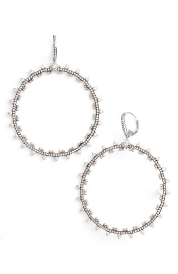 Women's Nadri Cardamom Frontal Hoop Earrings