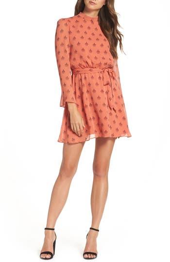 Bb Dakota Tabitha Medallion Print Blouson Dress, Orange