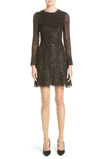 Adam Lippes Flocked Lurex Metallic Velvet Dress