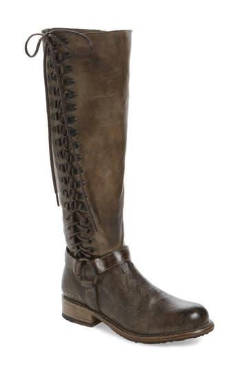 Bed Stu Burnley Knee-High Corset Boot, Brown