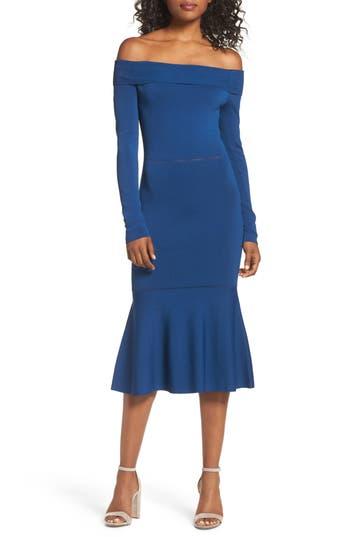 Cooper St Teria Off The Shoulder Dress, Blue
