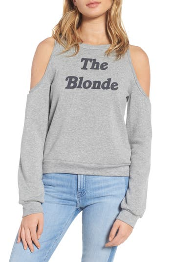 Pst By Project Social T The Blonde Cold Shoulder Sweatshirt, Grey