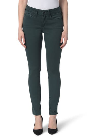 Nydj Ami Colored Stretch Skinny Jeans, Green