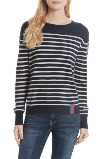 Women's Kule Stripe Cashmere Sweater, Size X-Small - Blue