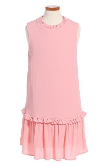 Girl's Kate Spade New York Ruffle Collar Dress
