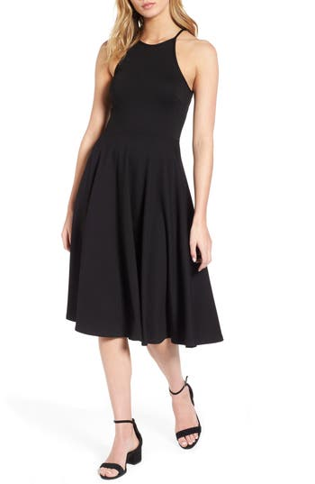 Women's Soprano Knit Midi Dress, Size X-Small - Black