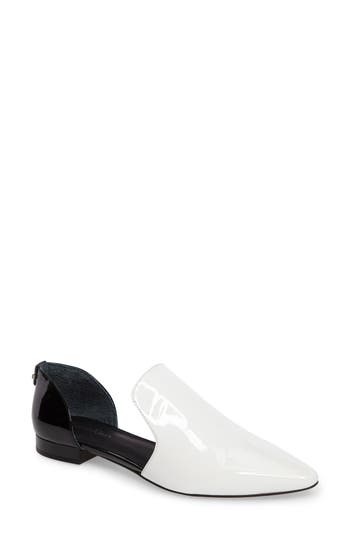 Calvin Klein Edona Loafer Flat, White