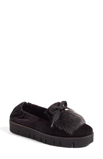 Kennel & Schmenger Malu Suede & Genuine Shearling Slip-On Sneaker- Black