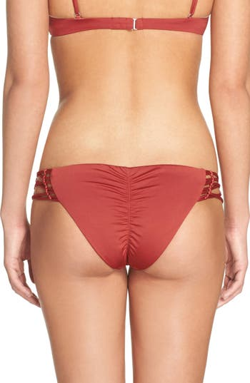 Dolce Vita Beaded Bikini Bottoms, Red