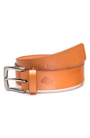 Men's Ezra Arthur No. 1 Leather Belt, Size 30 - Golden Tan