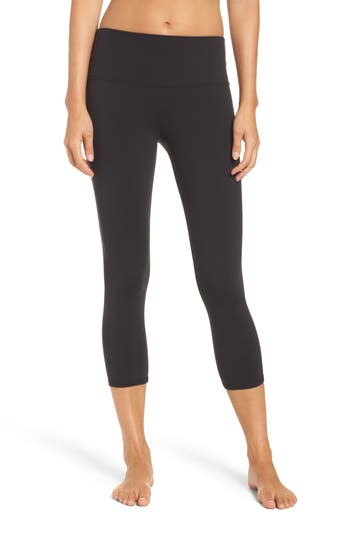 Alo Dash High Waist Capris, Black