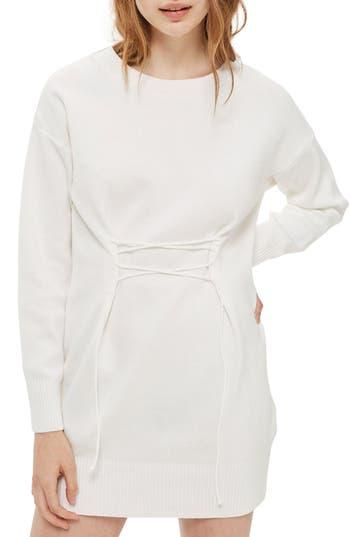 Topshop Corset Sweater Dress, US (fits like 0) - White