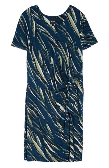 Plus Size Nic+Zoe Tiger Lily Twist Front Sheath Dress, Blue