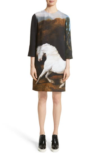 Stella Mccartney Kira Horse Print Dress, 8 IT - Black