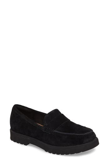 Clarks Bellevue Hazen Loafer, Black