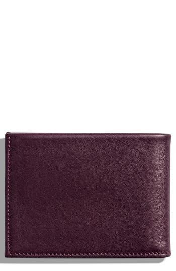 Shinola Slim Bifold Leather Wallet -