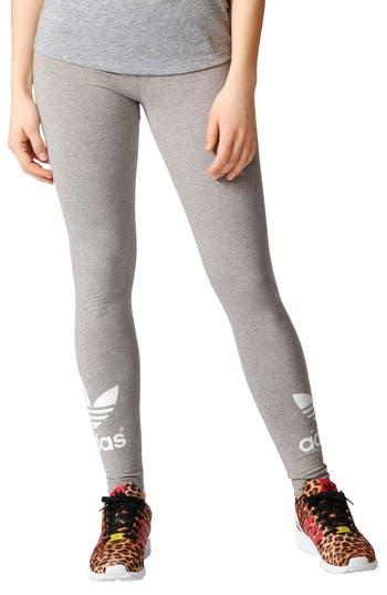 Adidas Originals Logo Leggings, Grey