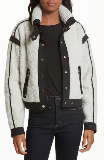 Veronica Beard Anita Fleece Jacket, Black