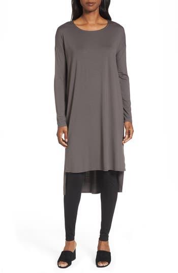 Eileen Fisher High/low Jersey Shift Dress, Brown