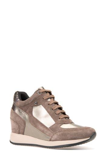 Geox Nydame Wedge Sneaker, Brown