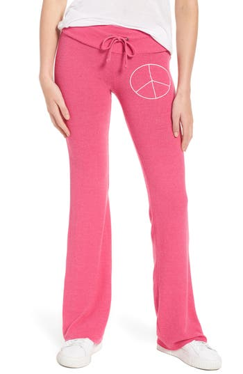 Women's Dream Scene Peace Track Pants, Size XX-Small - Pink