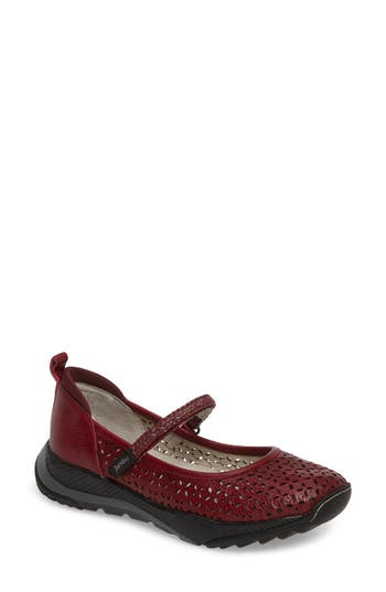 Jambu Bailey Perforated Mary Jane Sneaker, Red