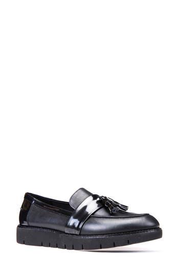Geox Blenda Tassel Loafer - Black