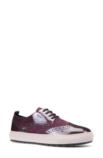 Geox Breeda Oxford Sneaker, Burgundy