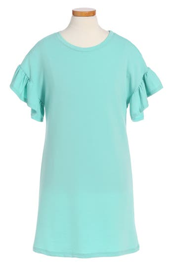 Girl's Cotton Emporium Ruffle Sleeve Dress