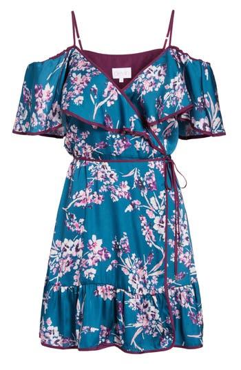 Devlin Iris Off The Shoulder Wrap Dress, Blue