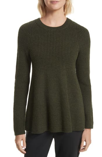 Grey Jason Wu Wool Trapeze Sweater, Green