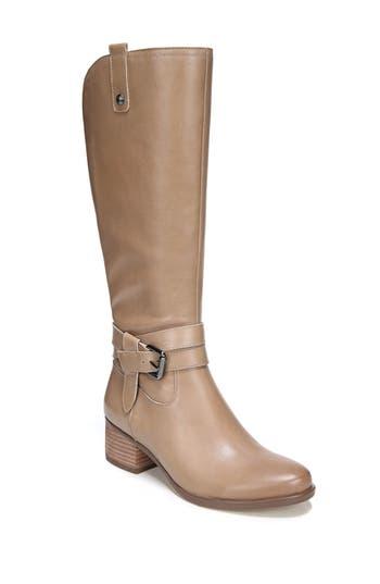 Naturalizer Dev Buckle Strap Boot, Wide Calf- Beige