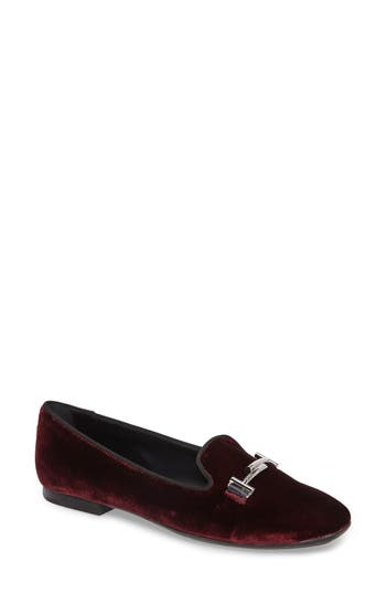 Tods Double T Loafer - Burgundy