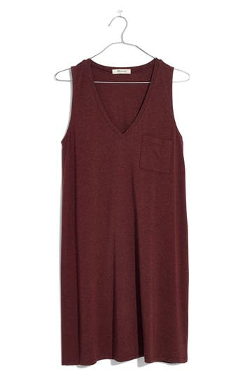 Madewell Swingy Tank Dress, Red