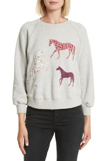 Women's La Vie Rebecca Taylor Appliqué Fleece Sweatshirt