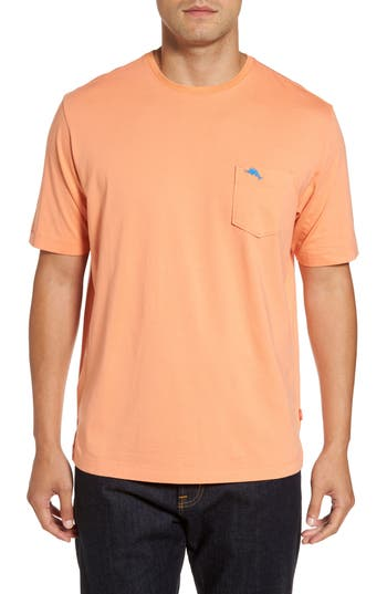 Men's Big & Tall Tommy Bahama Bali Skyline Pocket T-Shirt, Size 1XB - Orange
