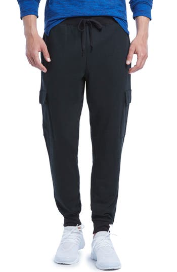2(X)Ist Cotton Blend Cargo Sweatpants, Black