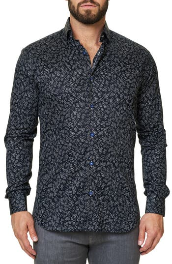 Men's Maceoo Luxor Funky Chemistry Trim Fit Sport Shirt