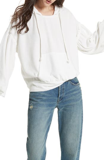 Free People Early Morning Hoodie, White