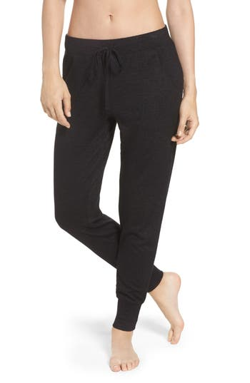 Natori Retreat Sweater Knit Pants, Black