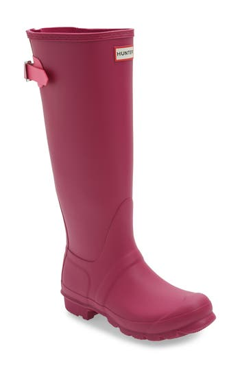 Hunter Adjustable Calf Rain Boot, Pink