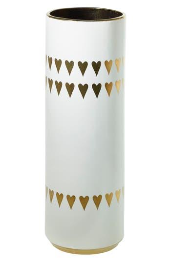 Accent Decor Spade Ceramic Vase, Size One Size - White